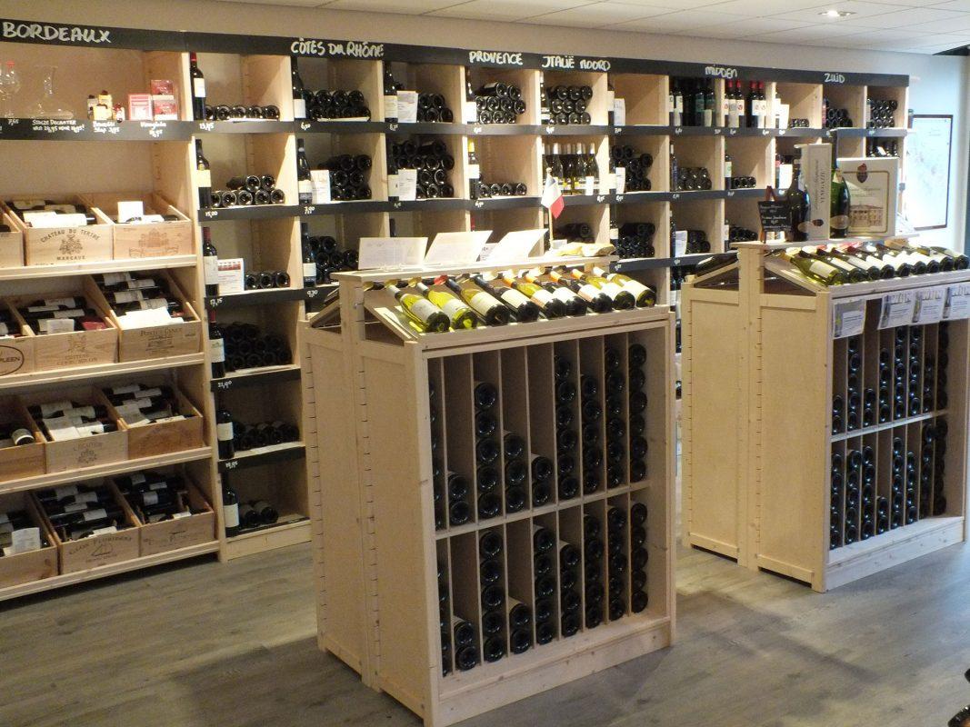 winkelinrichting rekken wijn
